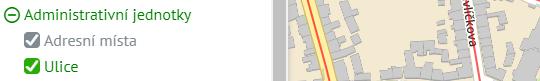 Mapová aplikace Gisonline