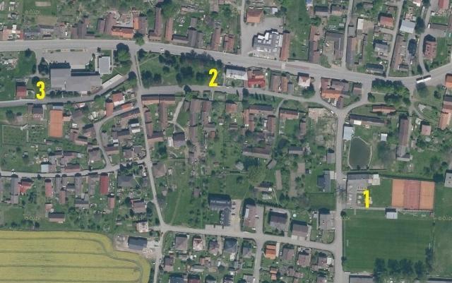 mapa s umístěním veřejných dětských hřišť