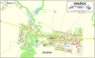 mapa obce Dražice
