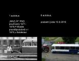foto prvního a posledního autobusu