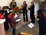 Foto z kostela při Hubertské mši
