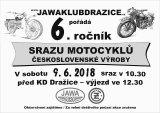 Pozvánka 6.ročník srazu motocyklů čsl. výroby 2018